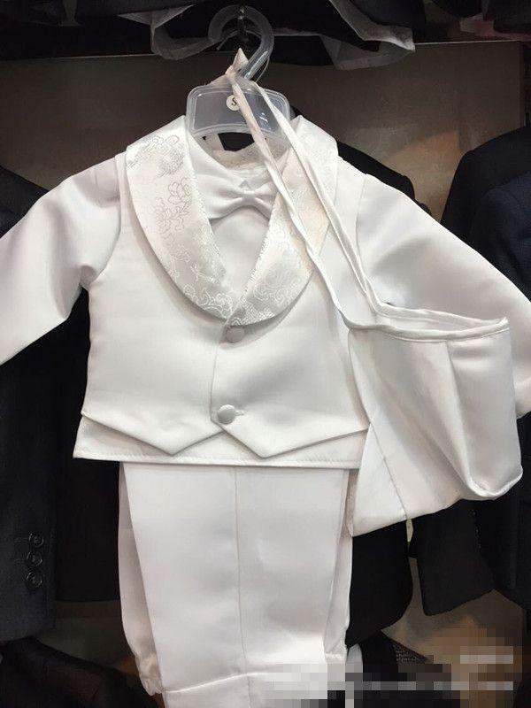 5pcs/set Newborn Baby Boy Chrsitening Set Baptism Boy's Clothes Set Infant Boy Clothing 1 Year first Party Clothes