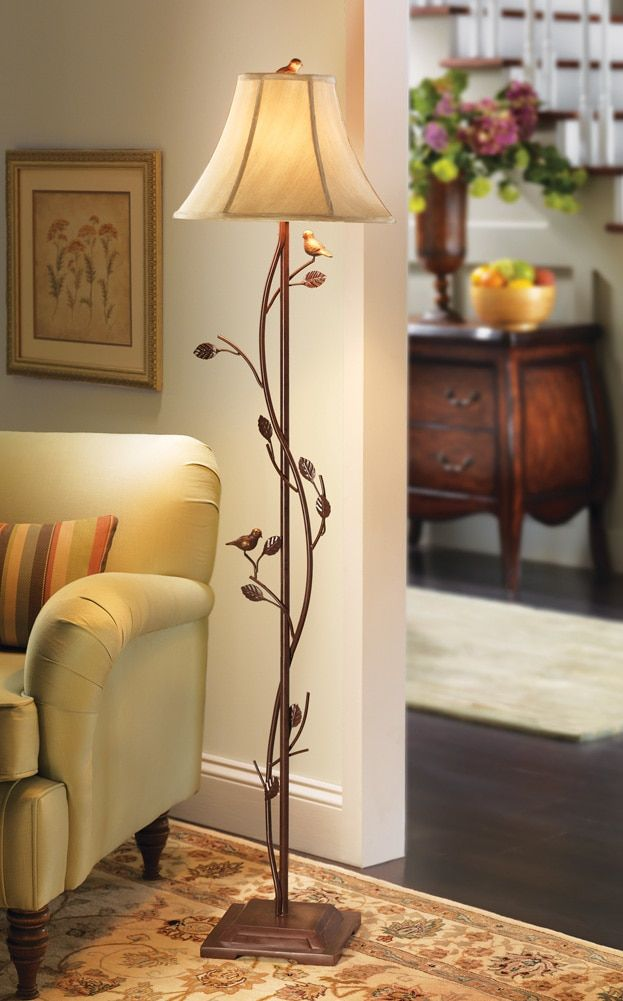 Bedroom floor lamp - It goes perfect with my tree branch ...