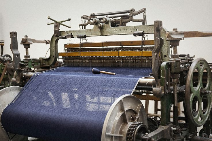 Rope dyed indigo, shuttle loom at One-man Mill, London