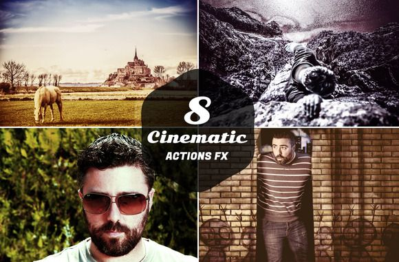 Check out 8 Cinematic Actions FX by Symufa on Creative Market