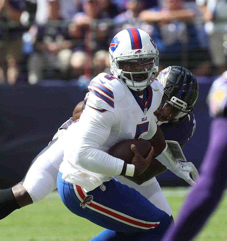 Bills-Ravens:   Monday, September 12, 2016  -   Buffalo Bills quarterback Tyrod Taylor avoids a sack by Baltimore Ravens outside linebacker Albert McClellan in the second quarter.  -   James P. McCoy / Buffalo News News Sports Photographer James P. McCoy captured outstanding images from the Bills' season-opening loss in Baltimore. Here are our favorites