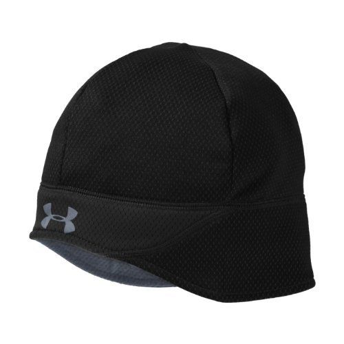 Mens ColdGear® Thermo Run Beanie Headwear by Under Armour One Size Fits All Black by Under Armour. $24.99. Dual-layer ColdGear® Thermo fabric delivers a smooth, fast-drying exterior and soft interior. Bonded hex-patterned design traps extreme heat without adding weight for unrivaled warmth. 4-way stretch fabrication allows greater mobility and maintains shape. Signature Moisture Transport System wicks sweat away from the body. Anti-odor technology prevents the...
