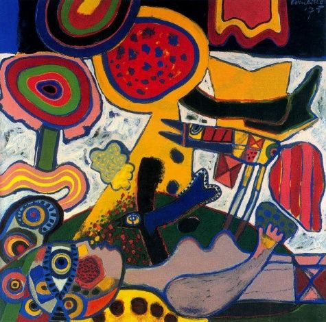 Feast in the Garden - Corneille was one of the founders of the Cobra group, with his close friend Karel Appel, of artists who stressed color and vitality.