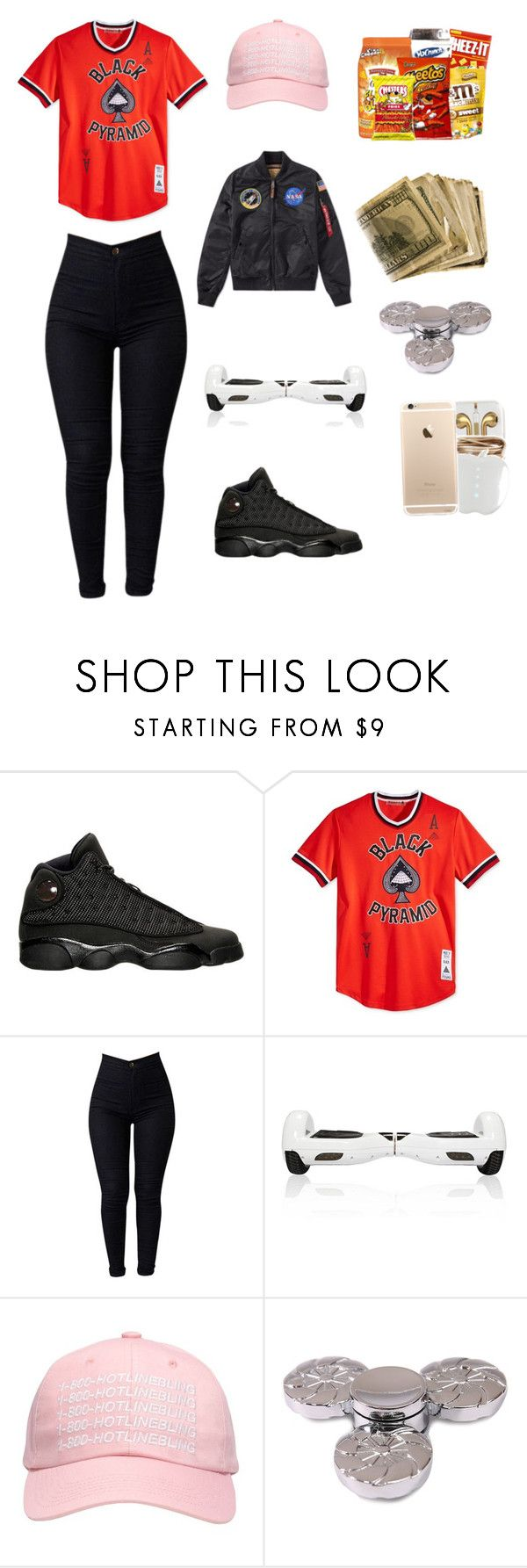 """""""Untitled #44"""" by poohklb ❤ liked on Polyvore featuring Black Pyramid, October's Very Own and Alpha Industries"""