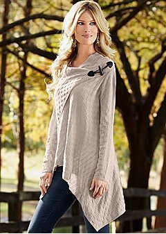 Women's Sweaters - Comfortable Fabrics & Styles by VENUS.  I just ordered this...the price is definitely right and I think it's unique!