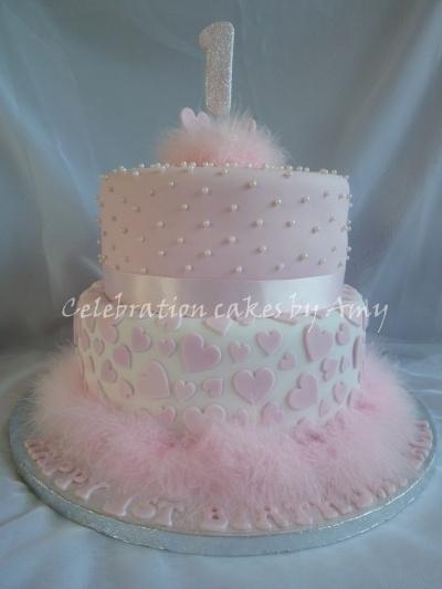 Little girls 1st birthday cake