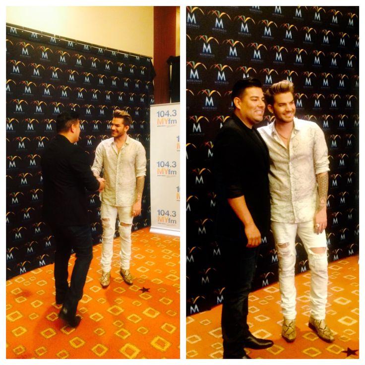 Ricardo Lara So this just happened! Met Adam Lambert. What an amazing artist n advocate.