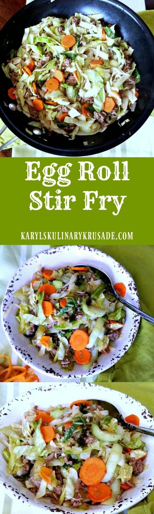 Love egg rolls, but not the fat and calories? This Egg Roll Stir Fry has all the goodness of an egg roll, but in much lighter, yet filling, dish.