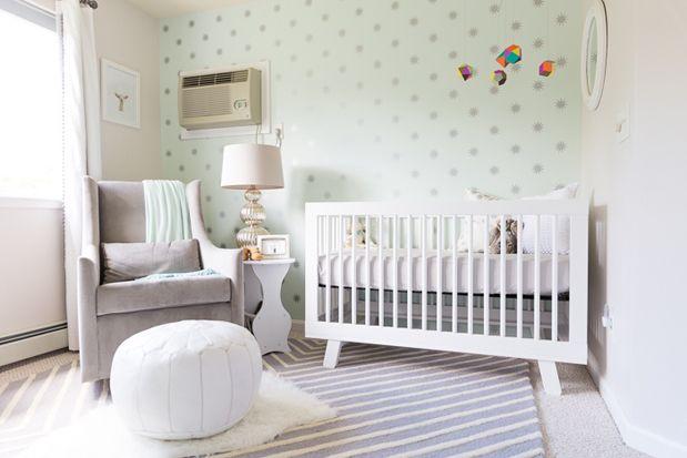 Heavenly Nursery via Grey Likes Baby.