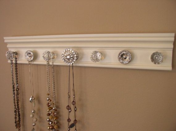jewelry holder This wall necklace organizer has 7 by Gotahangup