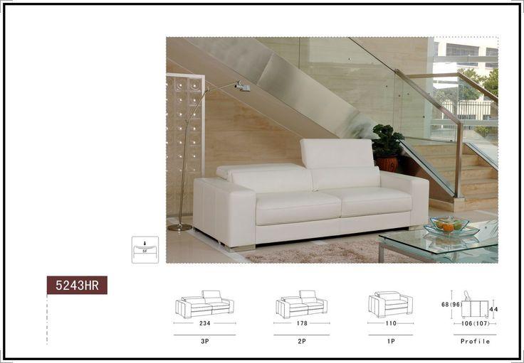 Kožená sedačka model 5243HR - 50% | Produkt | Luxusní kožené sedačky, kožené sedací soupravy a postele Praha