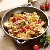 Bratkartoffeln mit Schinken und Ei