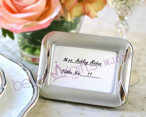 brushed finish photo frame and placeholder wedding party decoration wedding souvenir wj016 placecard