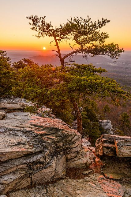 Love this place!  Should go back to see the sunset sometime! Hanging Rock State Park 2012
