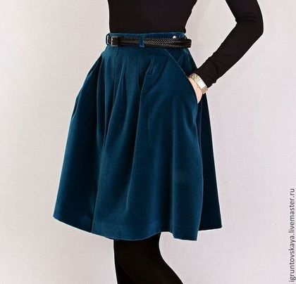 Дизайнерская юбка бархатная-GF-Тренд сезона-Must-Have! - Цвет морской волны, Итальянский бархат. Цена: 8500р. Пишите: What`s App +7 966-358-66-16