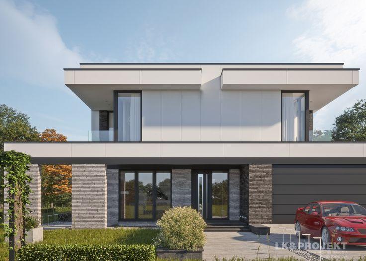 LK&1308 - http://lk-projekt.pl/lkand1308-produkt-9624.html  #project #houseproject #house #modern #architecture #polisharchitecture #homesweethome #singlefamilyhouse #exterior #build #dreamhome #dreamhouse #design #villa #residence