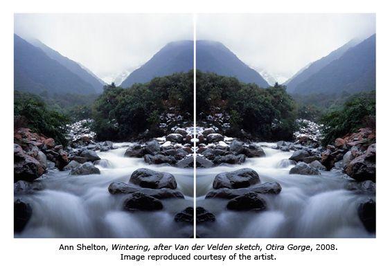 """""""Wintering, after Van der Velden sketch, Otira Gorge"""" (2008) - Ann Shelton"""