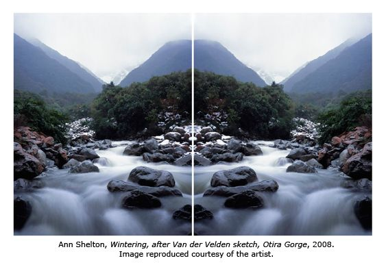 """Wintering, after Van der Velden sketch, Otira Gorge"" (2008) - Ann Shelton"