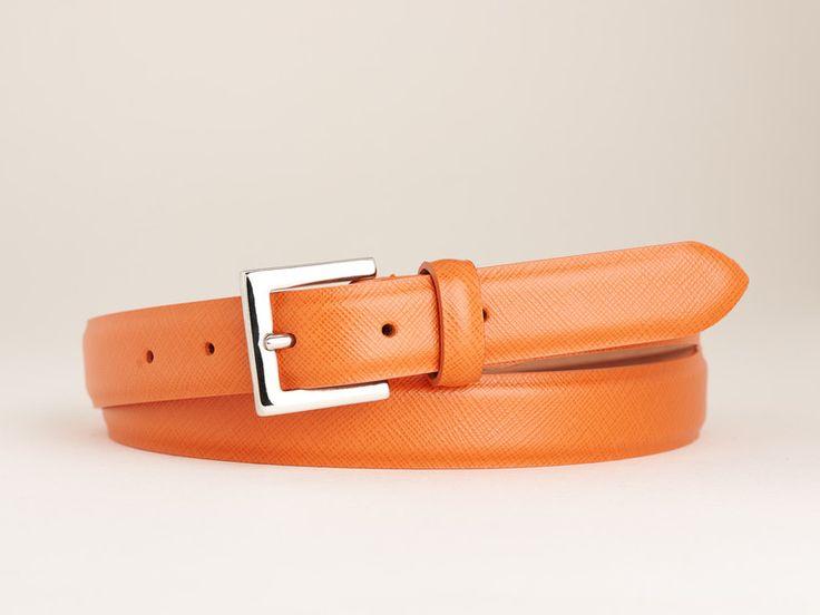 Manufakturgürtel+BOCHICCHIO+-+SAFFIANO+ARANCIO+von+CINTOO+|+Fine+Belts+auf+DaWanda.com