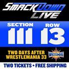 #lastminute  Two (2) WWE SMACKDOWN Tickets  SEC 111 ROW 13  POST-WRESTLEMANIA  ORLANDO #deals_us
