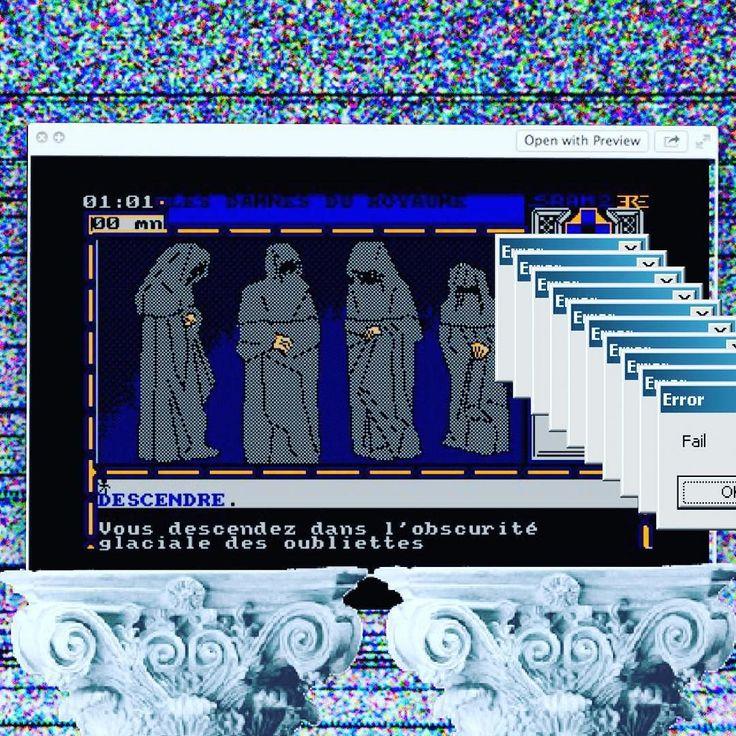 Interesting one by jesueater #amstrad #microhobbit (o) http://ift.tt/2bANvqp damnés du royaumes #vaporwave #aesthetic  #dark #pixelart #wave #lean #error #oldvideogames