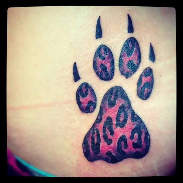 Cheetah Paw Print Tattoo Me Tattoos, Chest tattoo, Dog