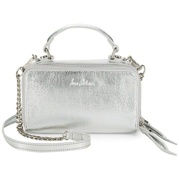 Sam Edelman Colby Crossbody Bag ($70) ❤ liked on Polyvore featuring bags, handbags, shoulder bags, silver crossbody purse, man bag, silver shoulder bag, handbag purse and white shoulder handbags