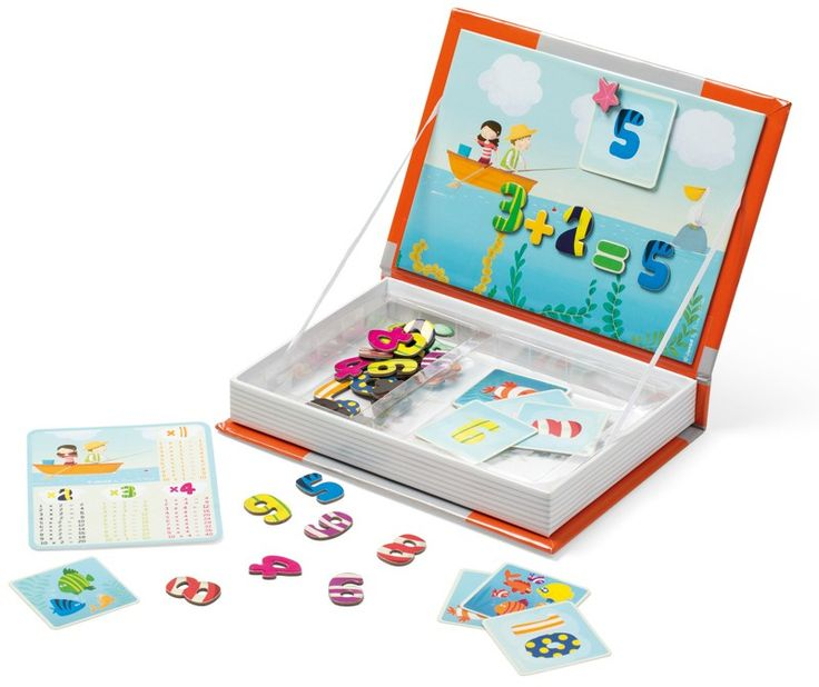 Janod - Magnetic Book Numbers 123. A beautiful learning tool #EntropyWishList #PinToWin