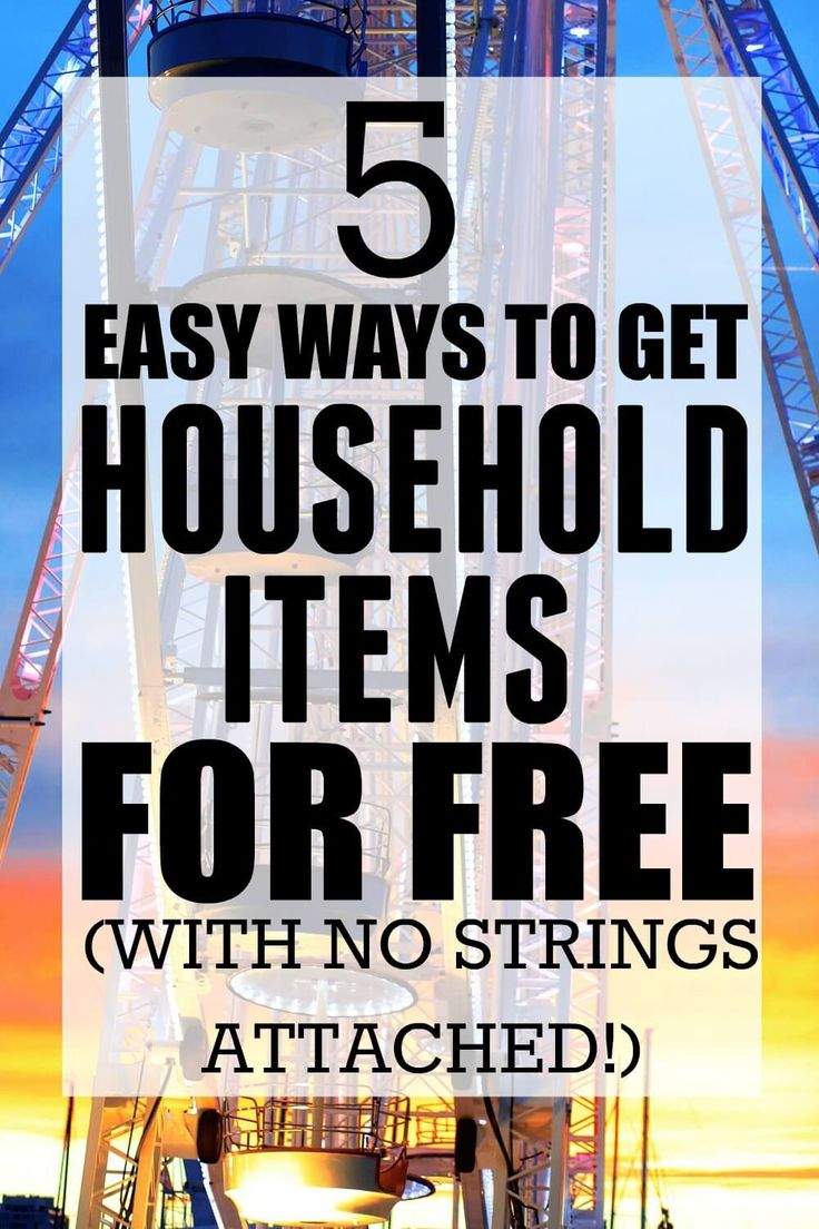 I can't believe that a simple search led me to find so many easy ways on how to get household items for free. If you want to find out how to get household items for free, then you need to read this post! Pinning for later!