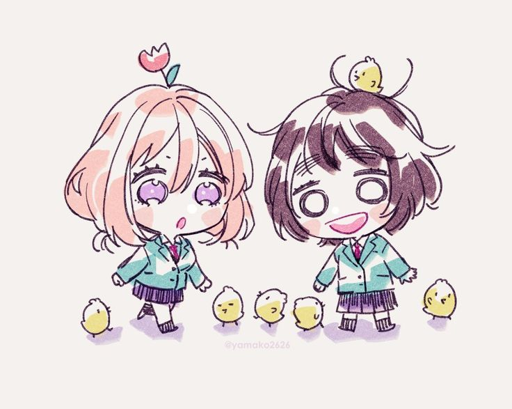 Hina y Hiyori Anime chibi, Honey works, Chibi