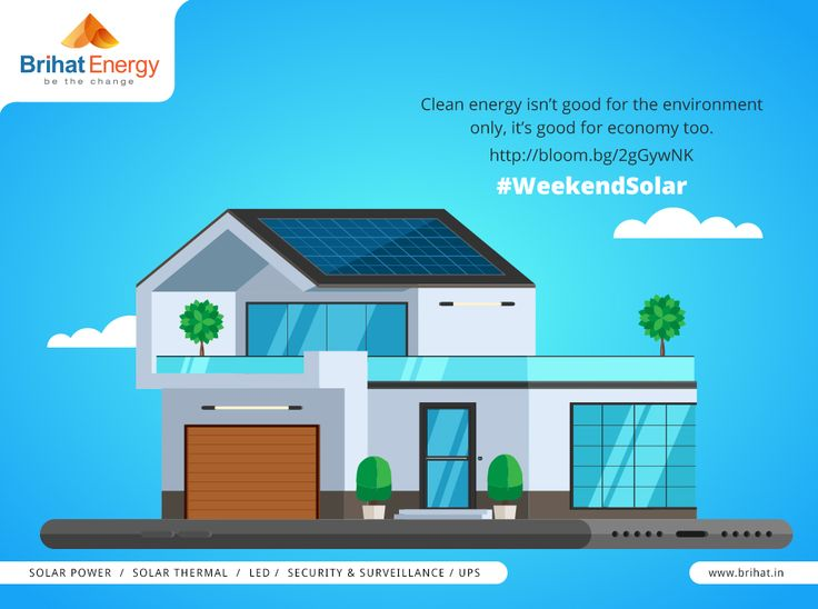 Clean energy isn't good for the environment only, it's good for economy too. http://bloom.bg/2gGywNK #WeekendSolar  Visit: http://goo.gl/n6B95m