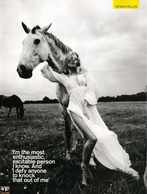 Love the B&W; & composition. And Sienna Miller.