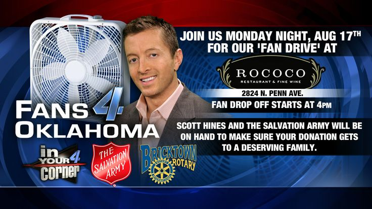 Rococo / News Channel 4 / Salvation Army Fan Drive TONIGHT! 4-7 at 2824 N. Penn