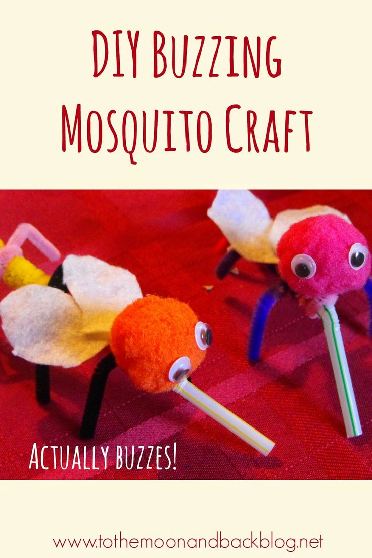 To the Moon and Back: DIY Buzzing Mosquito Craft