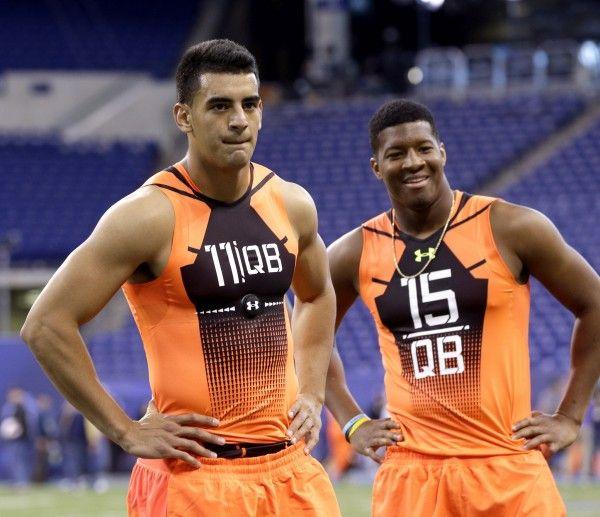 NFL Combine – Jameis Winston & Marcus Mariota Doing Just Fine - SPORTIGE #NFL, #Winston, #Mariota