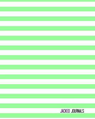 Jacked Journals: Bullet Grid Journal - Original, Striped Color - 185 Dot Grid Pages, 8 x 10 , Professionally Designed (Mint)