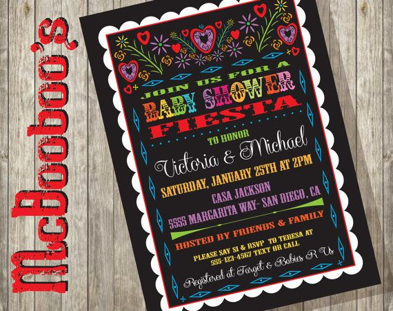 Mexican Baby Shower Papel Picado Fiesta Invitation by McBooboos