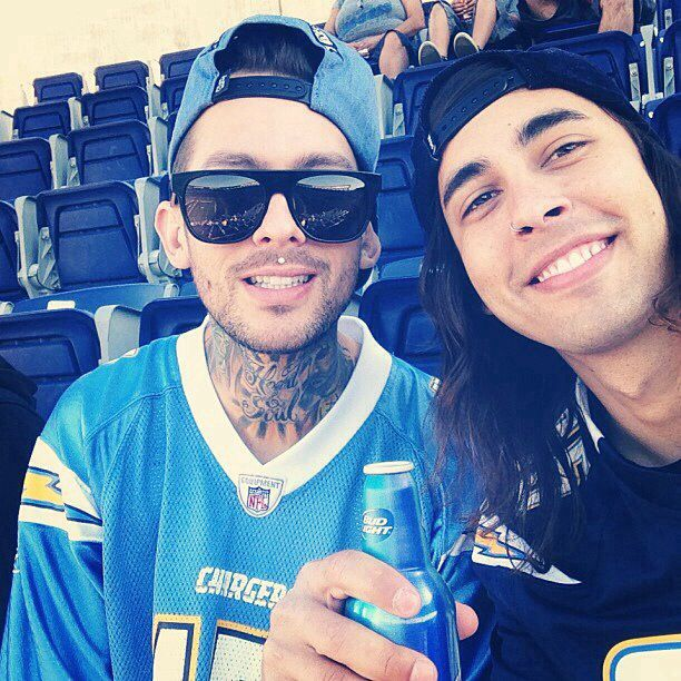 Mike and Vic Fuentes. They're Chargers fans! yes yeS YES. I know they live and grew up in San Diego, but that possibility didn't even cross my mind. Impossibly, I love them even more than I did. GO BOLTS! ⚡️