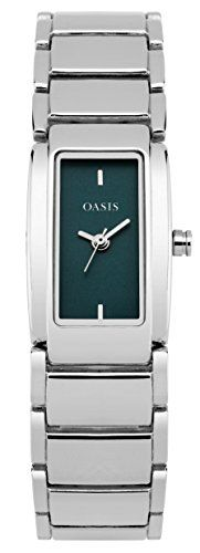 From 13.00 Oasis Women's Quartz Watch With Blue Dial Analogue Display And Silver Alloy Bracelet Sb001sm