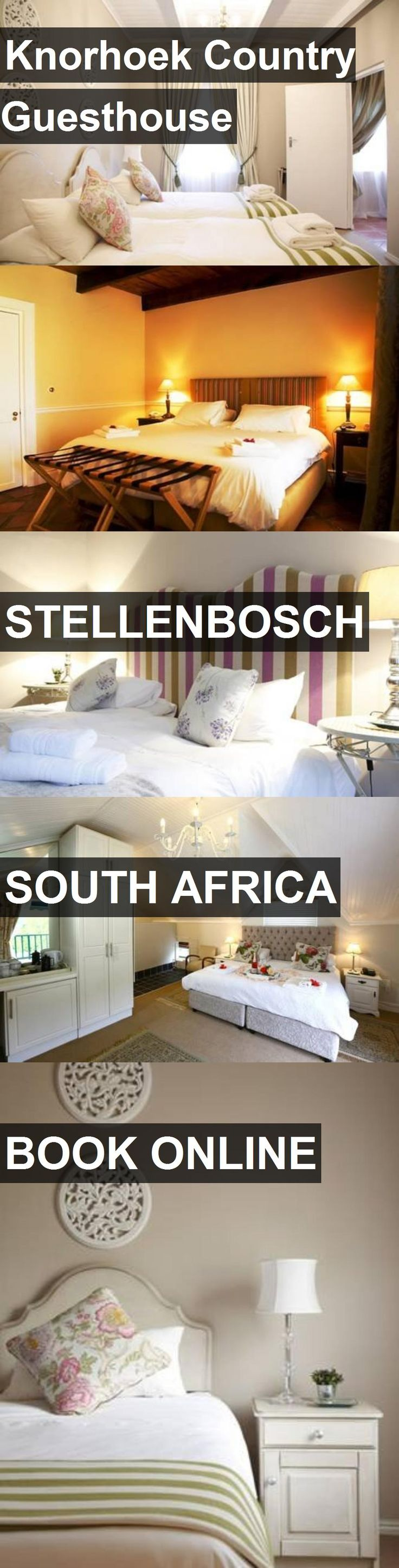 Hotel Knorhoek Country Guesthouse in STELLENBOSCH, South Africa. For more information, photos, reviews and best prices please follow the link. #SouthAfrica #STELLENBOSCH #travel #vacation #hotel