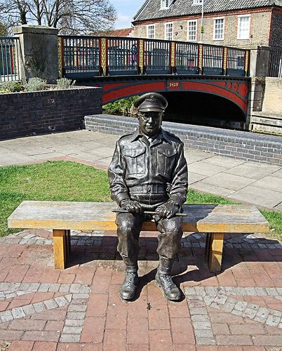 Captain Mainwaring Statue, Thetford - Norfolk. | Flickr - Photo Sharing!