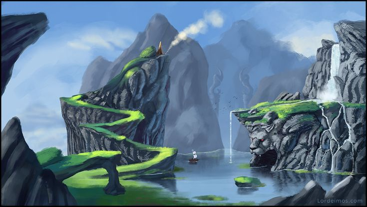 Water and mountains and stuff... ! by LorDeimos.deviantart.com on @DeviantArt