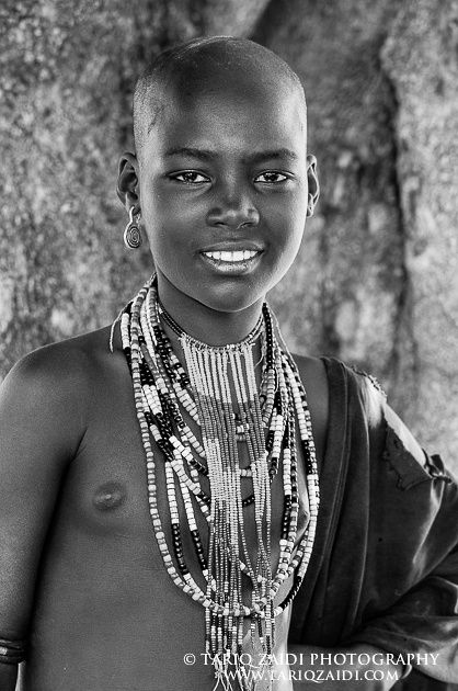 Girl With Shaven Head, Ethiopia