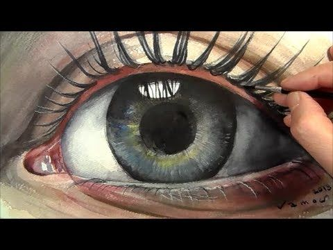 Soul, How to Paint a Realistic Eye in Watercolour - YouTube