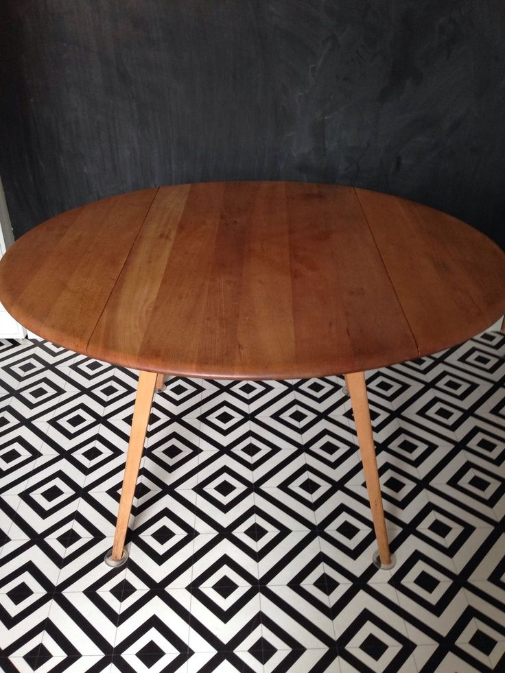 Ercol Blonde round Drop leaf Dining Table 384 + 2 Windsor Chairs Vintage Retro | eBay