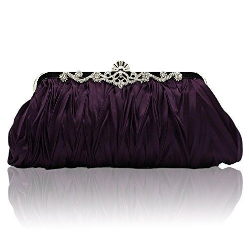 New Trending Clutch Bags: Kingluck Silk Cocktail Evening Handbags/ Clutches in Gorgeous Silk More Colors Availabl (purple). Kingluck Silk Cocktail Evening Handbags/ Clutches in Gorgeous Silk More Colors Availabl (purple)   Special Offer: $9.00      355 Reviews Gender Women Occasion Event/Party Color Purple, Pink, off-White, Fuchsia, Black, red, Silver, Main Materials Satin, Silk Bag Type Evening Bag Closure Type...