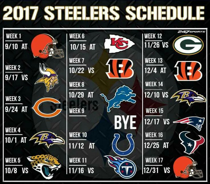 2017 Pittsburgh Steelers schedule https://www.fanprint.com/licenses/pittsburgh-steelers?ref=5750