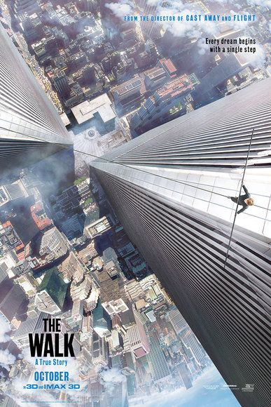 The Walk - PG - September 30, 2015 - Director: Robert Zemeckis - Writers: Robert Zemeckis, Christopher Browne, Philippe Petit - Stars: Joseph Gordon-Levitt, Ben Kingsley, Charlotte Le Bon - The story of French high-wire artist Philippe Petit's attempt to cross the Twin Towers of the World Trade Center in 1974. - ADVENTURE / BIOGRAPHY / DRAMA
