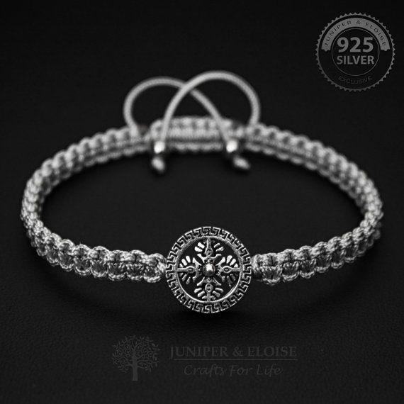 Pulsera para hombre joyería pulsera plata 925 por JuniperandEloise
