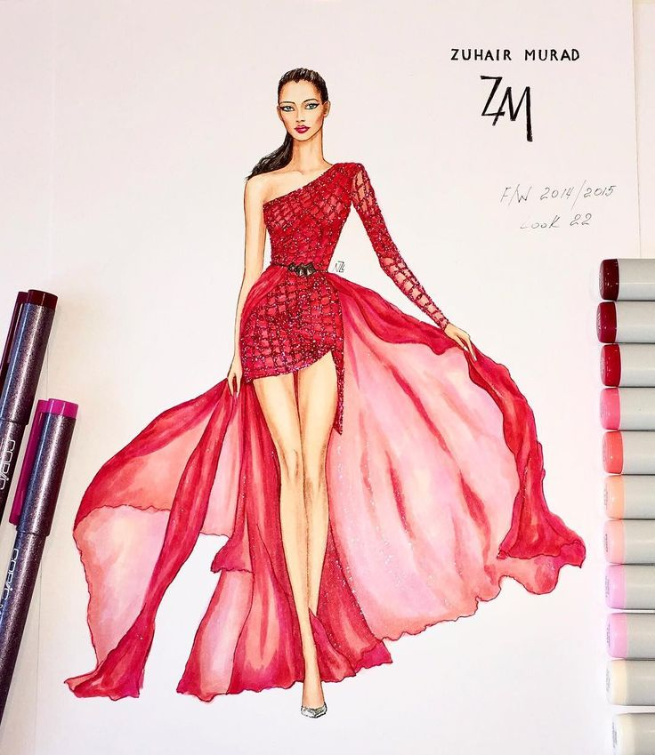25 Best Ideas About Fashion Illustration Dresses On